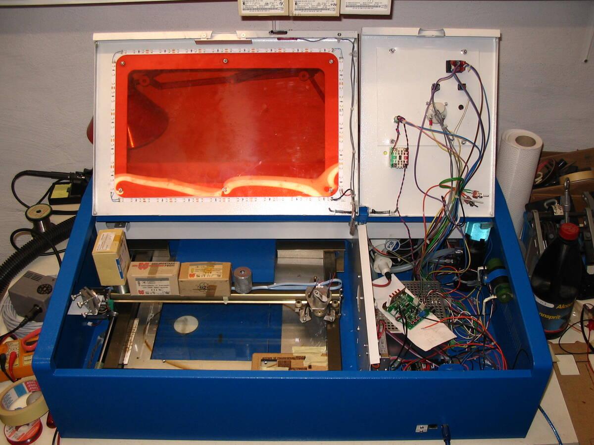 Umbau Laser Cutter | Odenwilusenz
